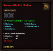 Bracers of the Red Shadow