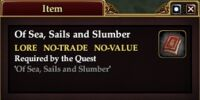 Of Sea, Sails and Slumber (Item)