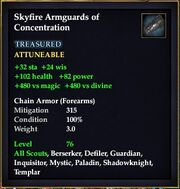 Skyfire Armguards of Concentration