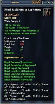 Regal Pauldrons of Reprimand