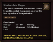 Shadowblade Dagger