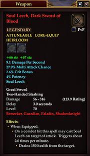 Soul Leech, Dark Sword of Blood