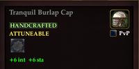 Tranquil Burlap Cap