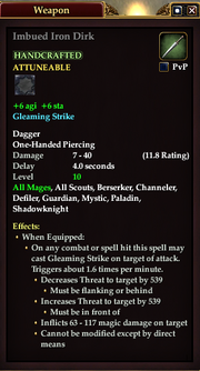 Imbued Iron Dirk