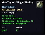 Mon'Tagorr's Ring of Healing