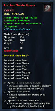 Reckless Plunder Bracers