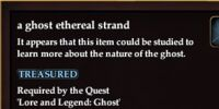 A ghost ethereal strand