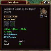 Gemmed Chain of the Desert Sword