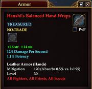 Hanshi's Balanced Hand Wraps