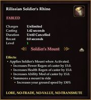 A Rilissian Soldier's Mount