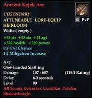Ancient Kejek Axe