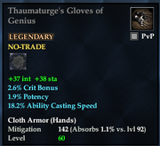 Thaumaturge's Gloves of Genius