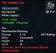 The Mighty Axe