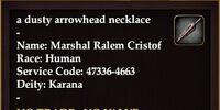 A dusty arrowhead necklace