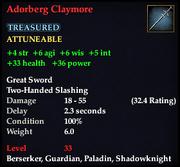 Adorberg Claymore