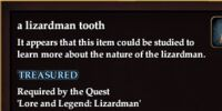 A lizardman tooth