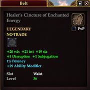Healer's Cincture of Enchanted Energy