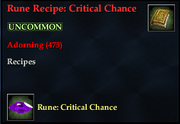 Rune Recipe- Critical Chance