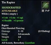 Tin Rapier