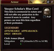Vesspyr Scholar's Blue Cowl