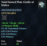 Void-Tainted Plate Girdle of Malice