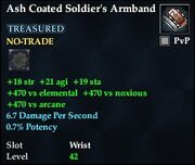 Ash Coated Soldier's Armband