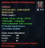 Atrebite Mantle of Destruction