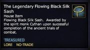 The Legendary Flowing Black Silk Sash