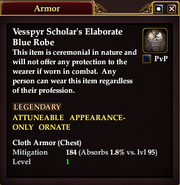 Vesspyr Scholar's Elaborate Blue Robe