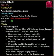 War rune evaded blade