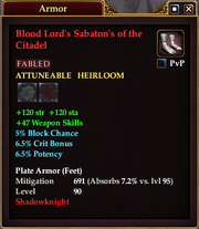 Blood Lord's Sabaton's of the Citadel