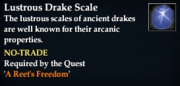 Lustrous Drake Scale