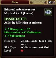 Ethereal Adornment of Magical Skill (Lesser)