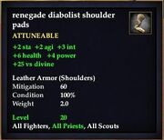 Renegade diabolist shoulder pads