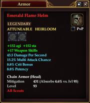 Emerald Flame Helm
