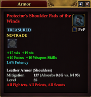 Protector's Shoulder Pads of the Winds