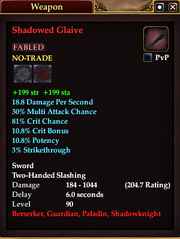 Shadowed Glaive