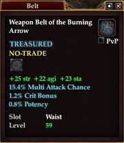 Weapon Belt of the Burning Arrow