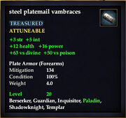 Steel platemail vambraces