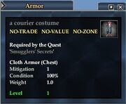 A courier costume
