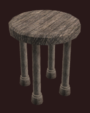A pristine elm bedside table (Visible)