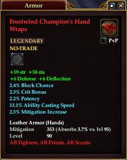 Frostwind Champion's Hand Wraps