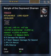 Bangle of the Depraved Shaman