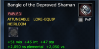 Bangle of the Depraved Shaman