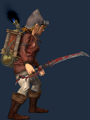Blacksmith's Bloodiron Sword of Rending (Equipped)