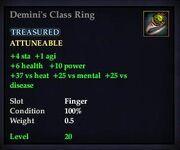Demini's Class Ring