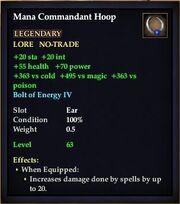Mana Commandant Hoop