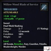 Willow Wood Blade of Service