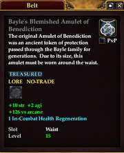 Bayle's Blemished Amulet of Benediction