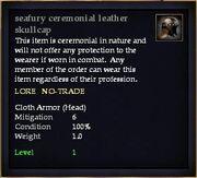 Seafury ceremonial leather skullcap